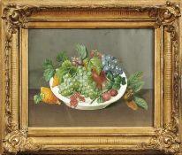 FrüchtestilllebenUm 1850Gouache. Ca. 28 x 35 cm; unter Glas ger.