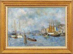 Tarnogrocki, OttoBlick auf den Stettiner Hafen mit Oderbrücke(Lobsens/Posen 1875-1946 Nienhagen)