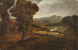 Verstappen, Martin (Attrib.)Italienische Flusslandschaft(Antwerpen 1773-1852 Rom) Öl/Lwd., doubl. 48