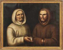 Frangipane, Niccolò (Attrib.)Franziskus und Dominikus trauern um einen toten Vogel(Padua od. Udine