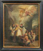 Heiliger MartinAugsburger Schule, 2. H. 18. Jh.Der Heilige im Bischofsgewand begleitet von zwei