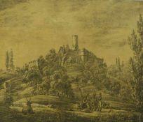 Scharnagel, Franz SebastianBlick auf die Altenburg in Bamberg(Bamberg 1791-1837) Kreidelithographie.