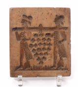 Kleiner BackmodelAnf. 19. Jh.Rechteckige Form mit tiefgeschnittener figürlicher Darstellung, u.a.