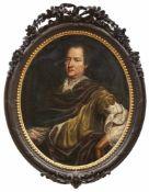 """Portrait des Julius Wilhelm Graf von Rottal2. H. 17. Jh.Ovales Bildnis, verso ausführlich bez. """""""