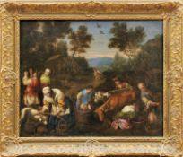Flämischer Meister nach Vorbild des Francesco BassanoWeinlese als Allegorie des HerbstesLandschaft