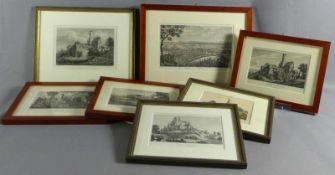 Sieben Ansichten der Altenburg in Bamberg19. Jh.Stahlstiche, Radierungen, Lithographien.