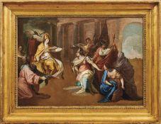 Conca, Sebastiano (Attrib.)Audienz beim Papst(Gaeta 1680-1764 Neapel) Öl/Lwd., doubl. 52,5 x 74