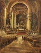 Hamel, OttoBlick in das Innere der Pfarrkirche St. Peter & Paul in Oberammergau(Erfurt 1866-1950