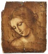 "Vinci, Leonardo da - Kopie nachKopf eines Mädchens ""La Scapigliata""Öl/Holz. 36 x 32 cm; ungerahmt. -"