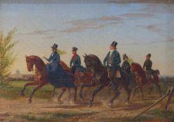 Rieck, ErnstAusritt übers Land(1832 bis 1858 erw. in Potsdam und London) Vornehme Gesellschaft zu