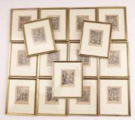 Collaert, Adriaen (Attrib.)15 Szenen aus dem Leben Christi(Antwerpen 1560-1618 ebd.) Kupferstiche,