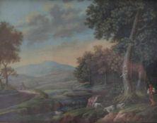 Wirsing, C. Johann ChristianFlusslandschaft mit Schäfer und seiner Herde(Nürnberg 1767-um 1805 ebd.)