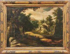 Valckenborch, Frederik van - Umkreis desWaldlandschaft mit Einsiedelei(Antwerpen 1570-1623 Nürnberg)