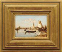 Ziem, Félix François Georges PhilibertGondel und Fischerboote in der Lagune von Venedig(Beaune