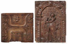 Zwei Wandpaneele od. TürfüllungenFlandern od. Nordfrankreich, 17. Jh.Hochrechteckiges Segment mit