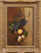Vidal, LouisZwei Stillleben mit Früchten und Vogelnest an einem Zweig(Frankreich um 1754-um 1807)