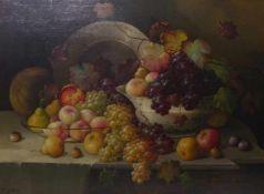Rotter, F.Opulentes FrüchtestilllebenDeutschland, fr. 20. Jh. Öl/Lwd. Links unten sign. 74 x 100