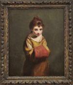 Reynolds, Joshua - UmkreisMädchen mit Muff(Plympton-Earl's 1723-1792 London) Öl/Lwd., doubl. 77 x 64