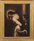 Christus an der GeiselsäuleNorditalien, 17. Jh.Öl/Lwd., doubl. 73,5 x 58 cm.