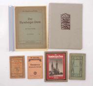 Sechs Bücher zu Bamberg1. H. 20. Jh.Woerl's Reisehandbücher, 9. und 13. Aufl. W. Pinder: Der