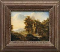 Südliche Landschaft mit Hirten bei einer WassermühleDeutscher Romantiker des späten 18.