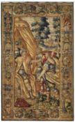 TapisserieBrüssel, 1. Dr. 17. Jh.Fein gewirkter Wandteppich mit hohen Seidenanteilen und Wolle. Am