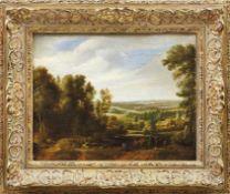 Boudewijns, Adriaen Frans & Pieter Bout (Attrib.)Landschaft mit Reisenden und Hirten mit seiner