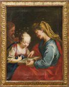 Die heilige Anna lehrt Maria das LesenSüddeutschland, 18. Jh.Seitlich im Hintergrund der heilige