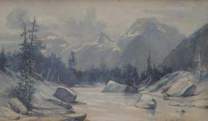 Broch, AloisBachlauf im Hochgebirge(Wien 1864-1939 Berlin) Gouache. Rechts unten sign. 11 x 19 cm;