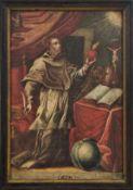 Der heilige AugustinusSüddeutschland, 18. Jh.Vor einem Altar kniend, in seinen Händen seine