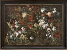Caffi, Margaritha (Attrib.)Blumenstillleben(Cremona 1647-1710 Mailand) Üppig aufgeblühte Bouquets in