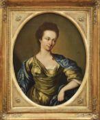 Bildnis einer DameFranzösischer Maler des späten 18. JahrhundertsÖl/Lwd., doubl. 64 x 50 cm.