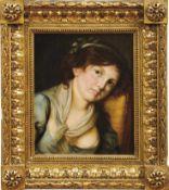 Greuze, Jean-Baptiste - SchuleBildnis eines jungen MädchensFrankreich, 19. Jh. Öl/Lwd. 41 x 34 cm.