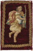 Gobelin-StickereiItalien oder Flandern, um 1600Auf geschorenem Samt mit Goldfadenbordüre Gestalt