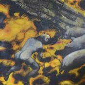 """Consorti, Paolo""""Possessione""""(San Benedetto del Tronto 1964 geb.) Öl/Lwd. 160 x 160 cm."""