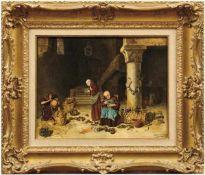 Ancillotti, TebaldoIn der Werkstatt der Mönche(Florenz 1869 geb.) Beim Sandalenanfertigen und