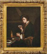 Bildnis eines wohlhabenden Herren beim KaffeetrinkenFrankfurter Kreis, 18. Jh.Öl/Lwd., randdoubl. 52
