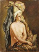 """Mataré, JosefAkt einer Schauspielerin(Aachen 1880-1966) Öl/Lwd. Links unten sign. und dat. """"1953""""."""