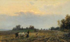 Bernhard Mühlig, Heimkehr vom Felde. 2. H. 19. Jh. Bernhard Mühlig 1829 Eibenstock – 1910
