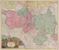 """Tobias Conrad Lotter """"Marchionatus Lusatiae Superioris"""". Mitte 18. Jh. Tobias Conrad Lotter 1717"""