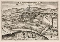 """Georg Houfnag """"Scopa vulgo Schvepa"""" (Ansicht von Zschopau). 1617. Georg Houfnag 17. Jh.Georg Braun"""