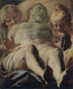 Giacomo Cavedone (zugeschr.), Grablegung Christi. 1. H. 17. Jh. Giacomo Cavedone 1577 Sassuolo –
