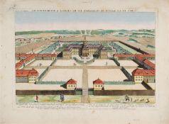 """Gottlieb Friedrich Riedel """"Vue de la maison de plaisance et de chasse d'Houbertusbourg"""" (Schloss"""