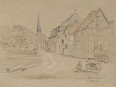 Oscar von Alvensleben, Fünf Landschaftsdarstellungen und zwei Interieurs. 1862-1890. Oscar von