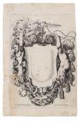 "Stefano della Bella, Zwei Blätter aus ""Nouvelles inventions de Cartouches"". 1647. Stefano della"