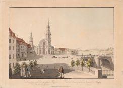 """Friedrich August von Lawrence (Verleger) """"Dresden von der großen Teppe des Brühlschen Gartens"""