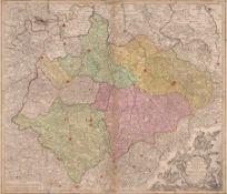 """Tobias Conrad Lotter """"Marchionatus Misniae primaria Elector. Saxoniae Provincia"""". 1757. Tobias"""