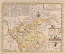 """Pieter (Petrus junior) Schenk """"Accurate Geographische Delineation … des Ammtes Grossen Hayn"""". Um"""