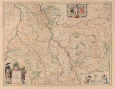 Willem Janszoon Blaeu/ Johannes Willemszoon Blaeu, Juliacensis et Montensis Ducatus - Karte von