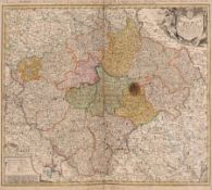 """Pieter (Petrus junior) Schenk """"Neue Sächsischen Post-Charte"""". Um 1732. Pieter (Petrus junior) Schenk"""